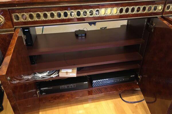 大阪H様邸リビングシアター 4K化を含む大幅アップデート